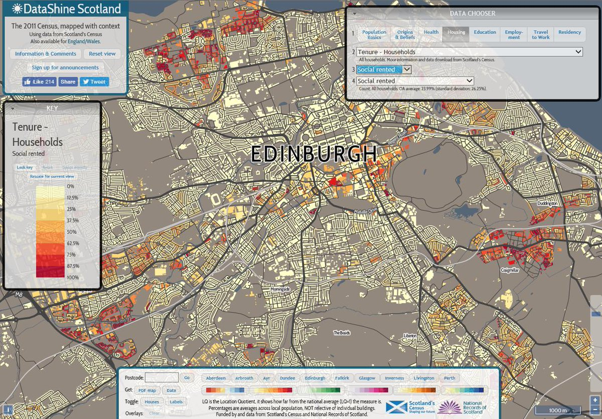 Explore census data on housing and people in your local area #Scottish...