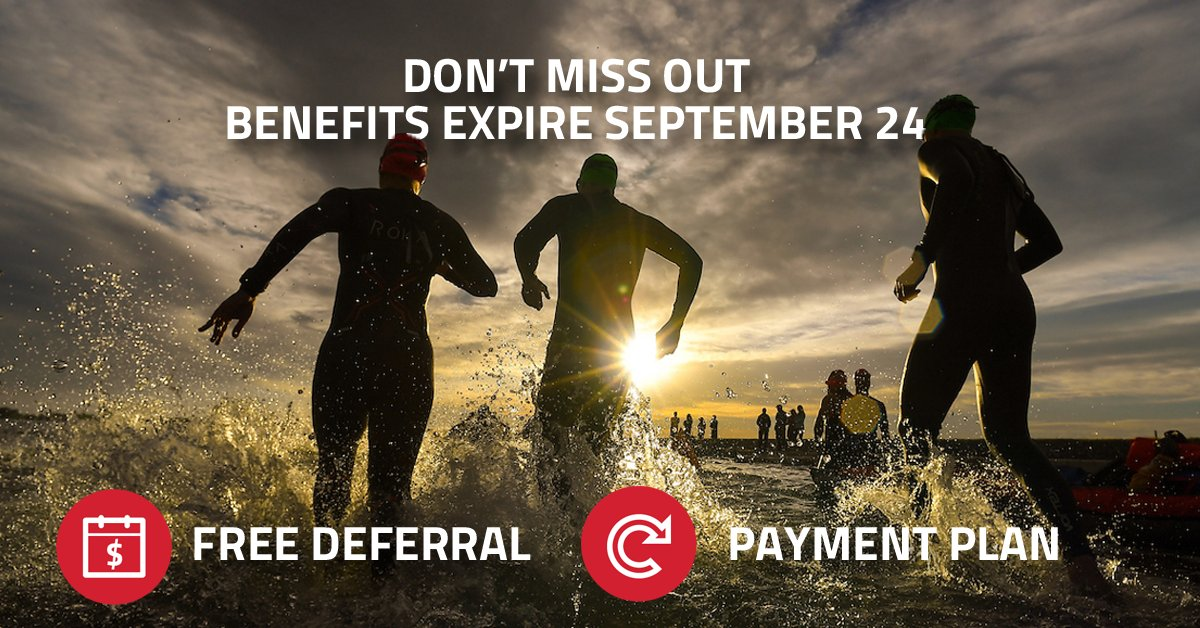 Only 4 days remain to take advantage of the FREE deferral and payment plan for IRONMAN Boulder and IRONMAN Texas! ⬇️ https://t.co/BNEhK8kRgo