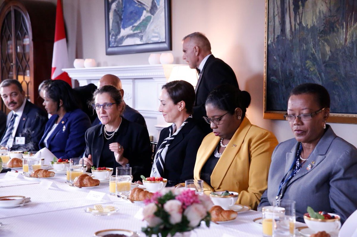 🇨🇦 heureux d'accueillir communauté #Caraïbes ajd. Thèmes: #changementsclim, dév. et intervention pr catastrophes naturelles récentes. #AGNU