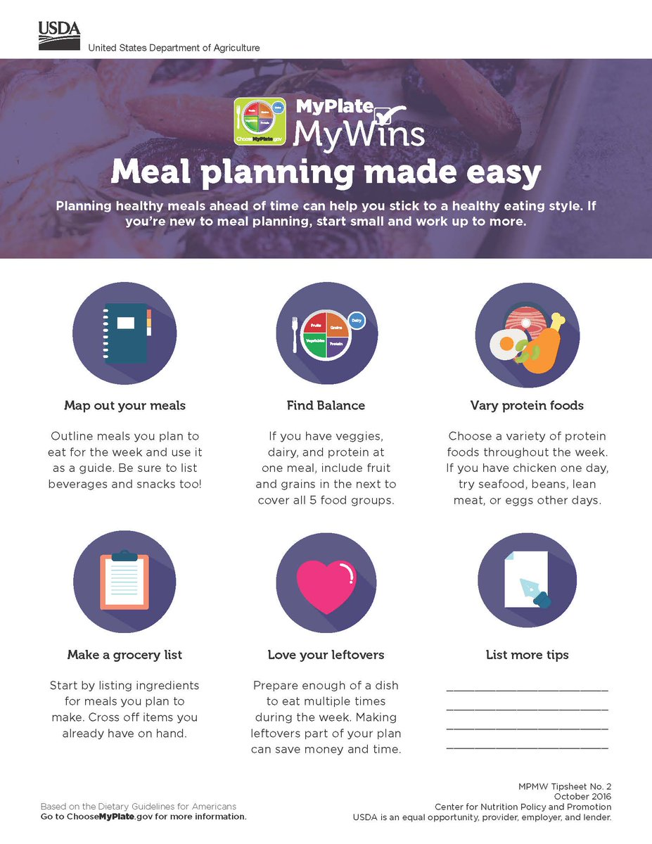Meal planning can help you stick to a healthy eating style during the busy #BackToSchool season. Planning tips:  http:// go.usa.gov/xR7n6  &nbsp;  <br>http://pic.twitter.com/xmw8ucklpm