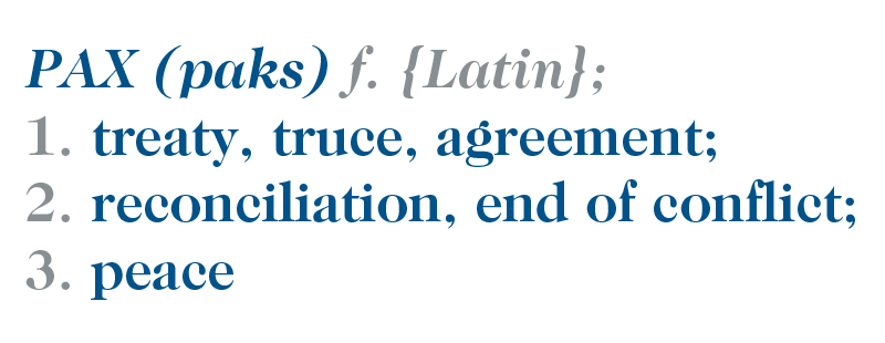 Celebrate #PeaceDay2017 by learning the #latin word for Peace - Pax, Pacis, F.  May there be Peace for our time. <br>http://pic.twitter.com/bqFGAgFc1S