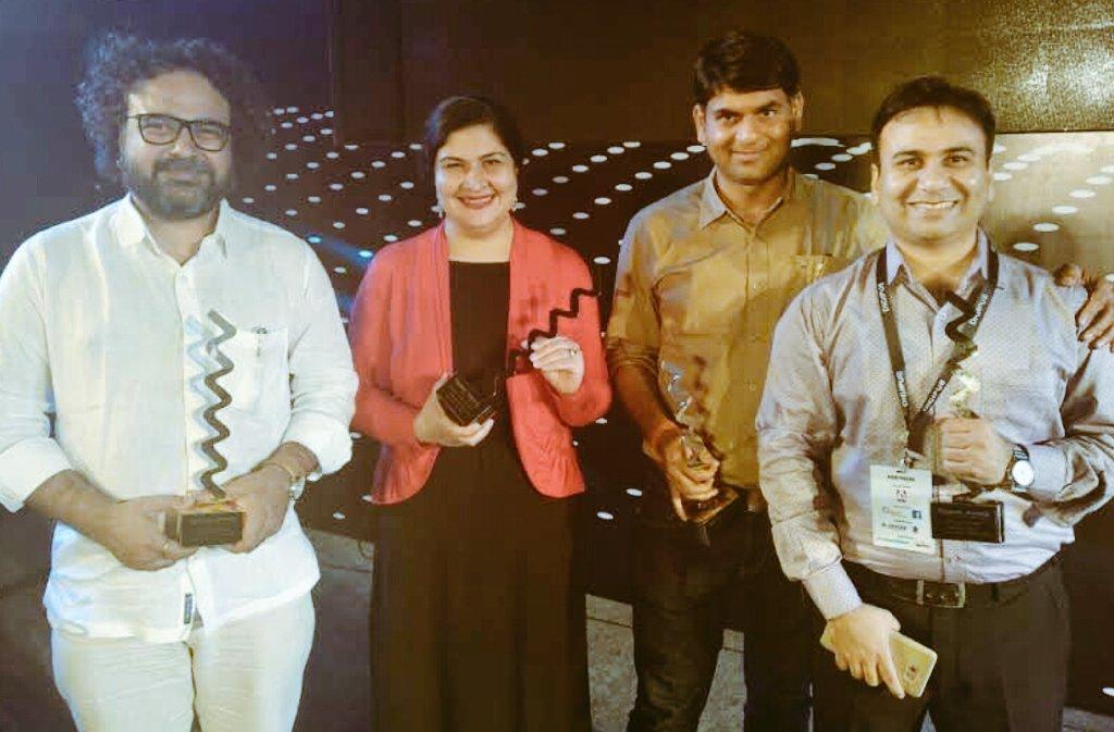 India Today Group bags four trophies at #DigiPubAwards @aajtak @TheLallantop  #SoSorry #SocialMedia