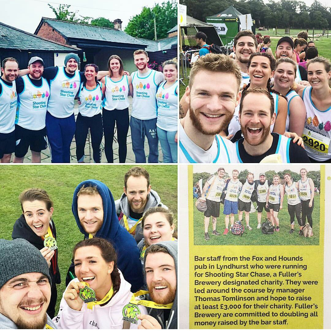 We&#39;re delighted to say we raised a massive £1,652.22 for @SSChospices from our new forest half marathon! #greatteam @Fullers @jdswaine<br>http://pic.twitter.com/FuUfBKEhGh