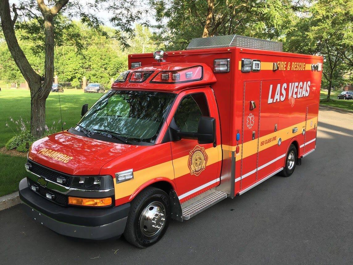 Look at these beauties. 5 new Demers MX-164 Rescue units nearly complete for @LasVegasFD. Will be out on streets later this year.