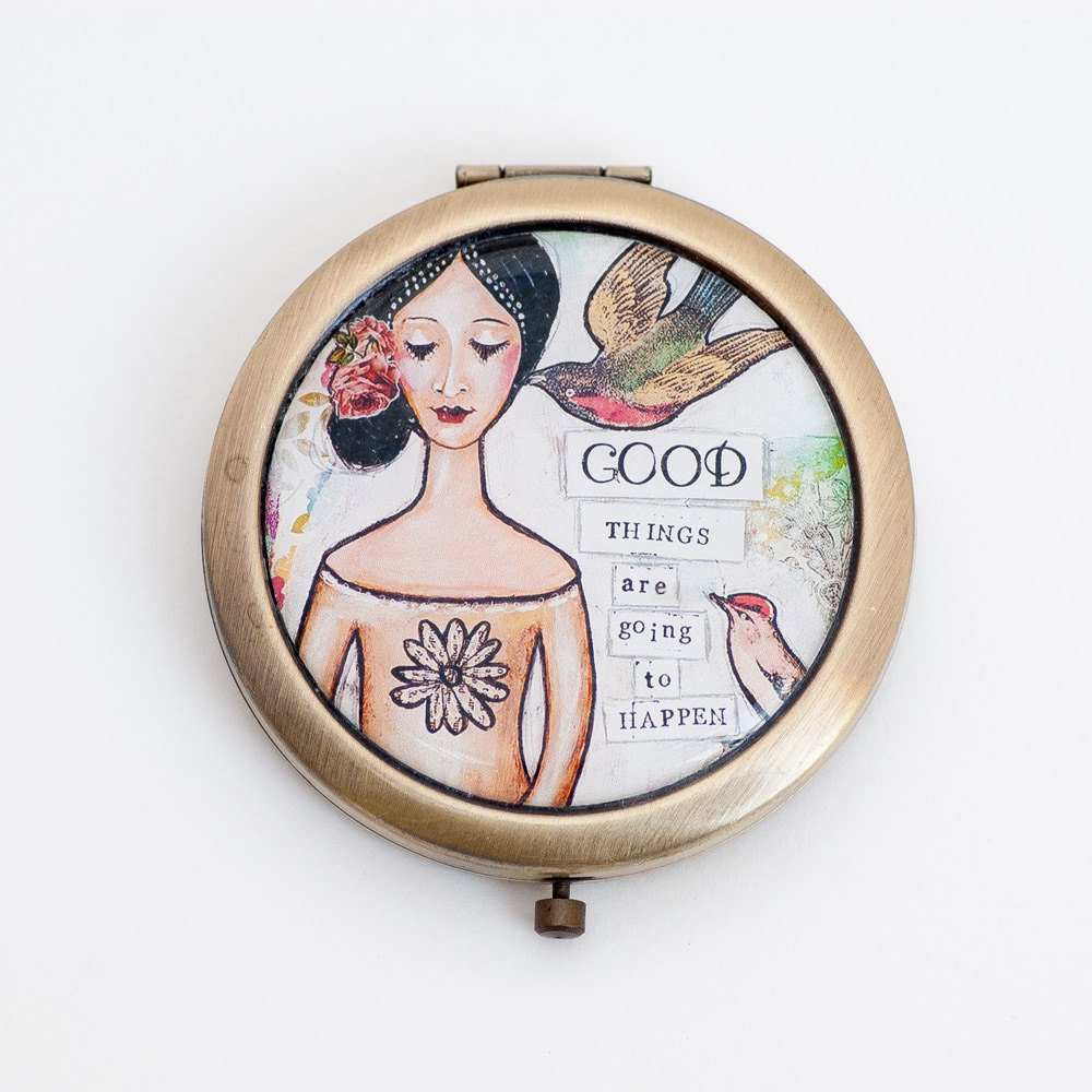 Compact Mirror - Positive Affirmation - Inspirational Gift - Best Friend Gift - Gift for  https:// seethis.co/JQmyOY/  &nbsp;   #mixedmediaart #accessories<br>http://pic.twitter.com/LIRDZP0qee