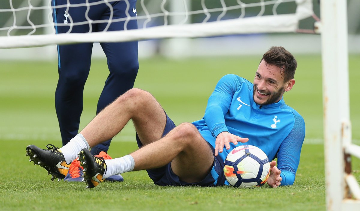 Happy faces at Hotspur Way this afternoon. 🤣   #COYS