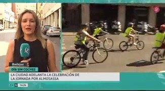 Menos humo y más bicis en el centro de Badajoz. La ciudad celebra hoy el Día sin coches. 🛑🚗 @aytodebadajoz  #EXN https://t.co/DN7wmOfKML