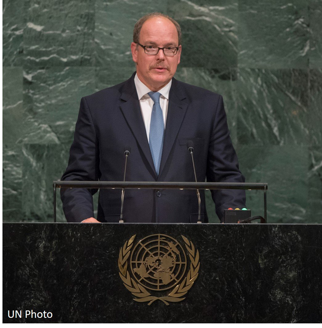 &quot;Our ability to #SaveTheOcean ... will enable us to save our planet.&quot; HSH Prince Albert 2 of #Monaco at #UNGA72:  http:// monacodc.org/news92  &nbsp;  <br>http://pic.twitter.com/bzNv0W5h5f