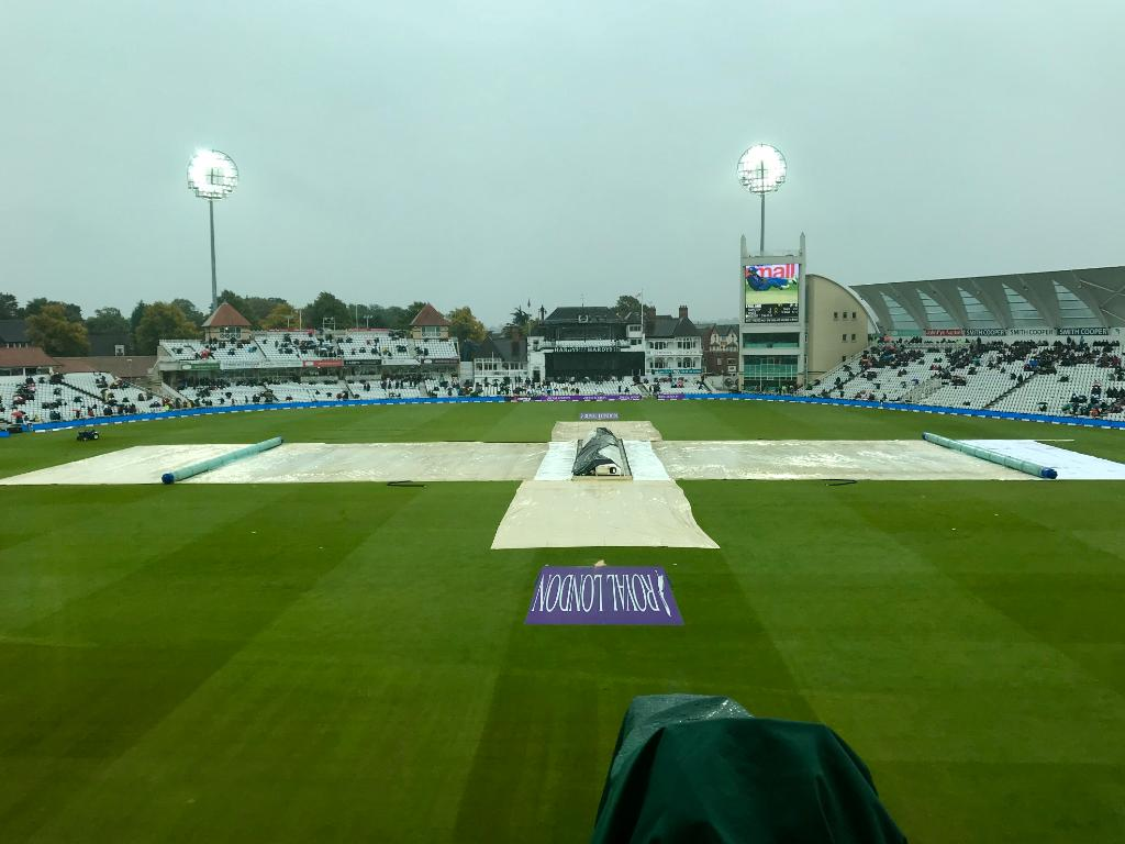 Still raining heavily here at Trent Bridge. Let's hope the skies clear...