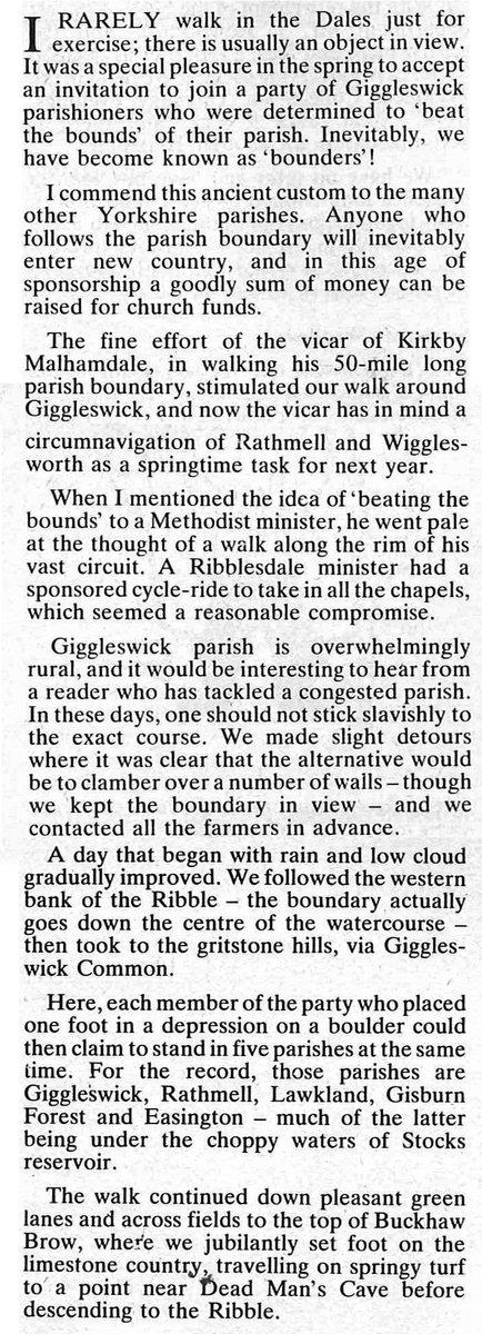 #FolkloreThursday @FolkloreThurs #beatingthebounds at Giggleswick #YorkshireDales (from @The_Dalesman mag, Oct 1981) @jakecampbell88<br>http://pic.twitter.com/HPwOrV0x57