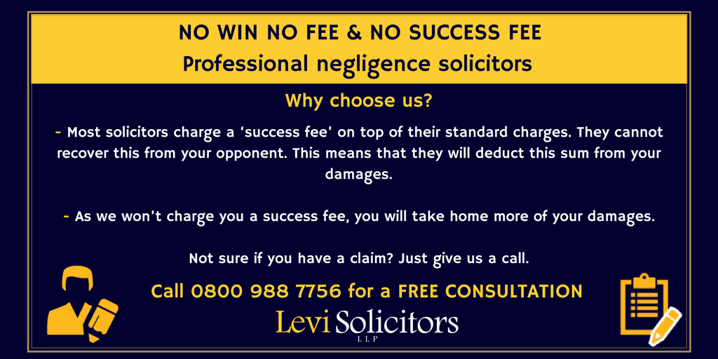 Levi solicitors llp on twitter our professional negligence levi solicitors llp on twitter our professional negligence solicitors offer no win no fee agreements and dont charge a success fee pronofoot35fo Images