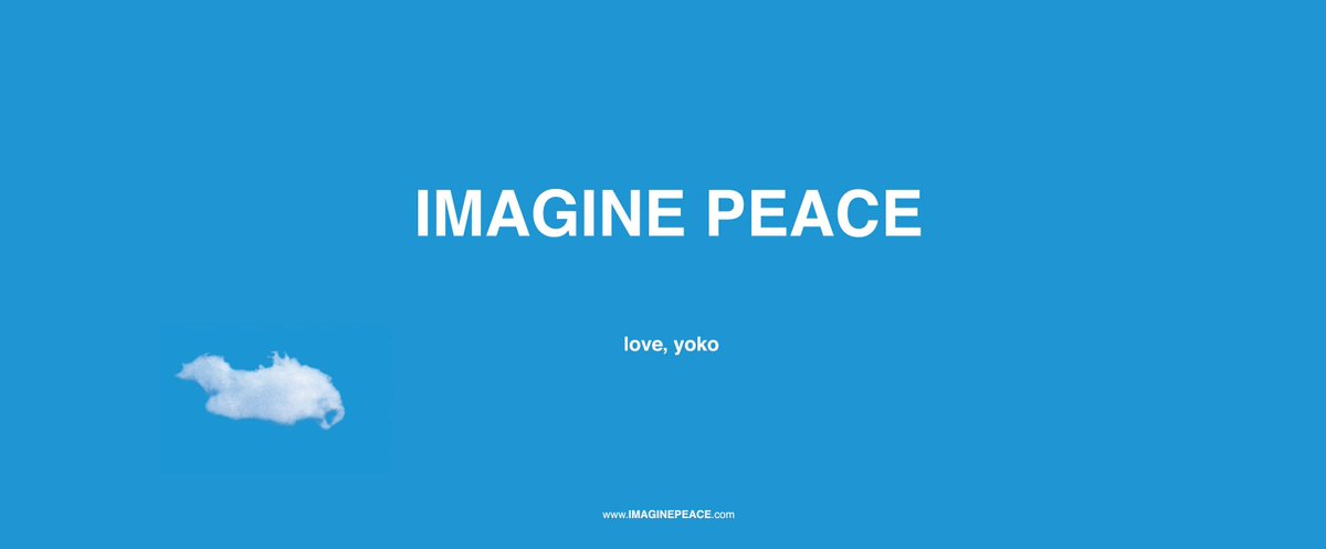 IMAGINE PEACE love, yoko #PeaceDay @PeaceOneDay https://t.co/0AY382gZN...