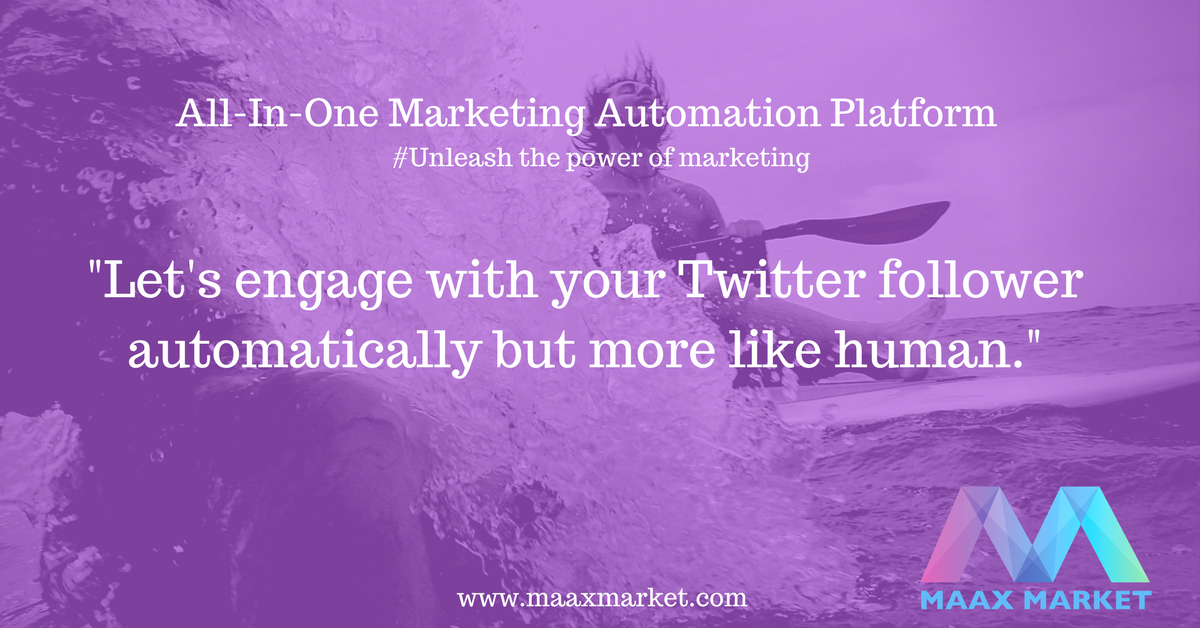 Engage with your Twitter follower automatically but more like a human. #AUTOMATION #marketingautomation #Marketing  https:// goo.gl/SmHNKv  &nbsp;  <br>http://pic.twitter.com/zmE1FrXSTq