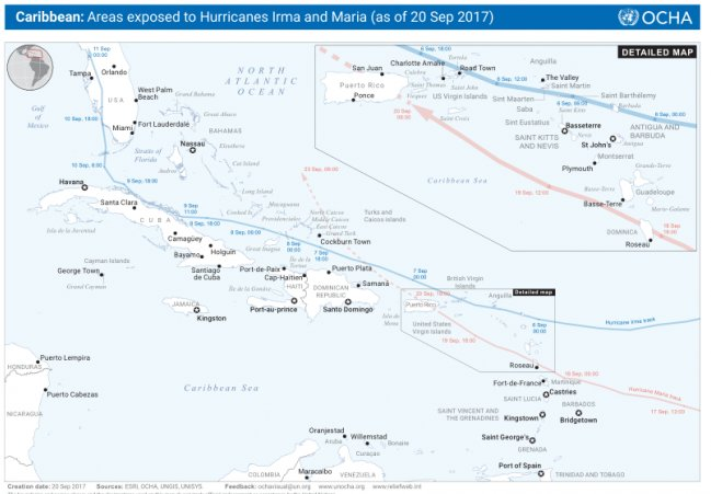 UNOCHA on Twitter Our latest map on the areas of the Caribbean