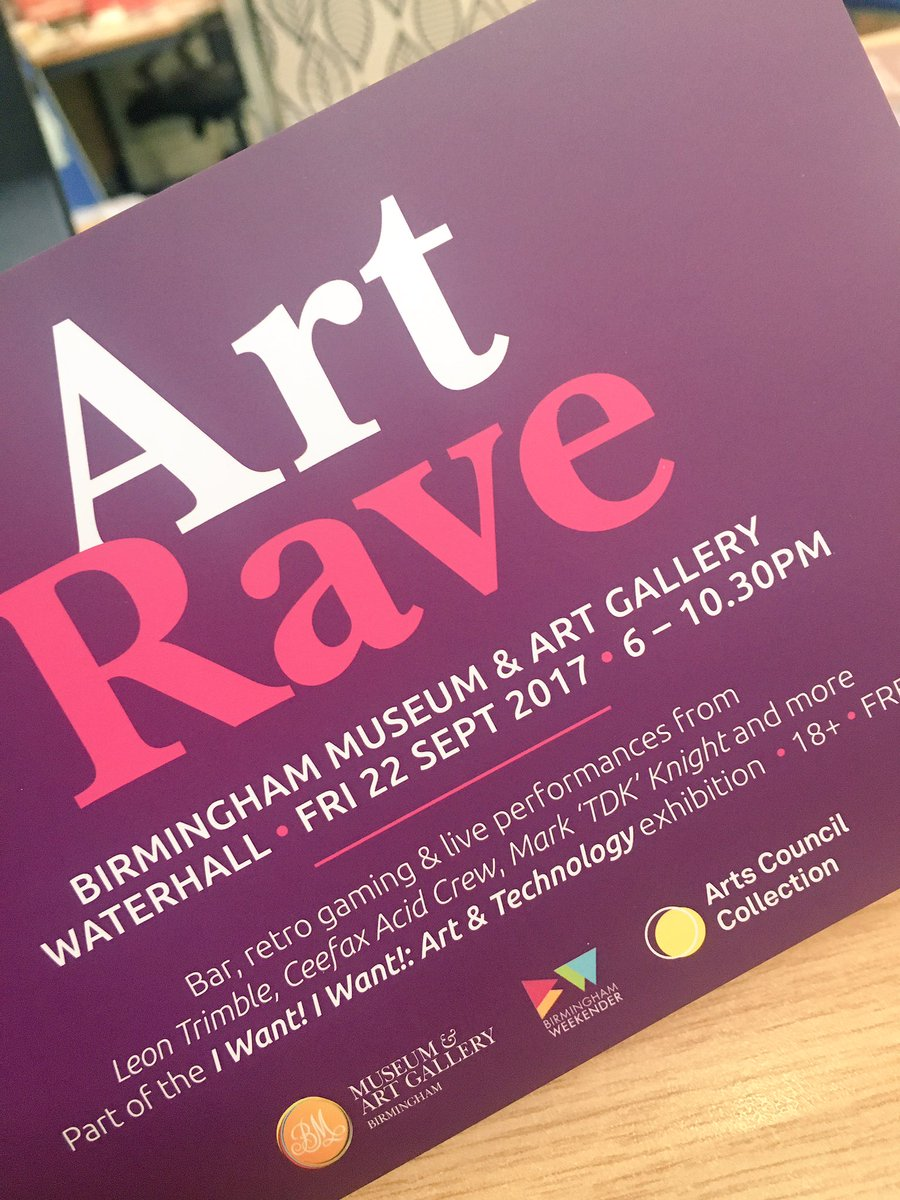 Tune in to @SunnyandShay on @bbcwm to hear @deborahsmithuk chat about our cool @BhamWeekender events at @BM_AG  #ArtRave #TonyOursler <br>http://pic.twitter.com/bxQNVNwdrN