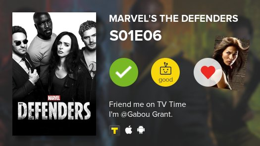 I've just watched episode S01E06 of Marvel's The Defenders! https://t....