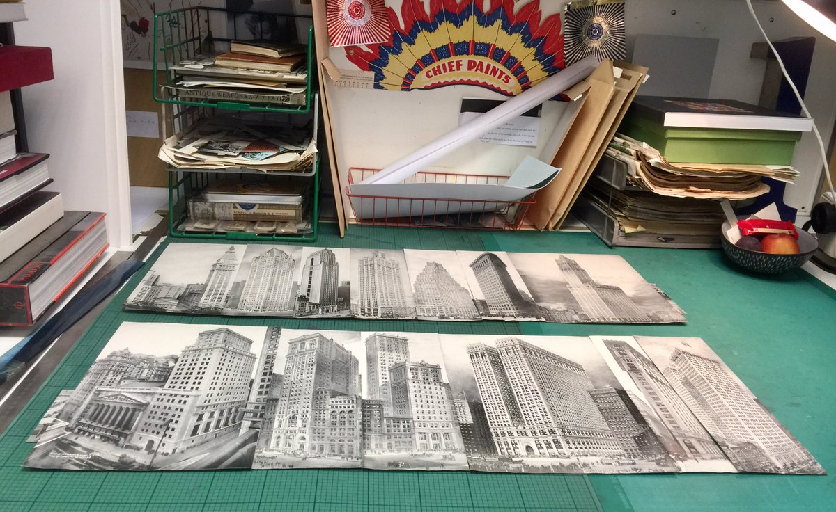 2 brand new collages begin &quot;Bridges Buildings &amp; Basquiat&quot; #collage #nyc #bridges #buildings #basquiat #bridgesbuildingsandbasquiat #paper <br>http://pic.twitter.com/zPfaeV93kW