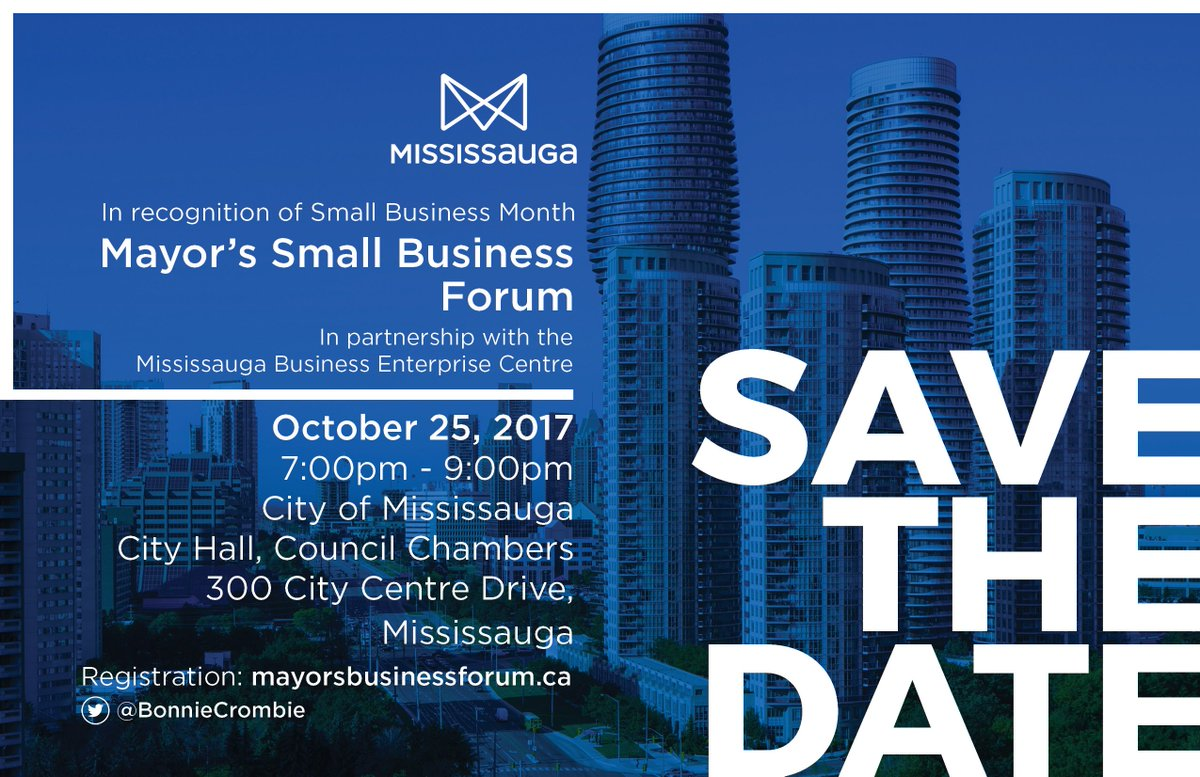 When #smallbusinesses succeed, #Mississauga succeeds. They're the backbone of our economy. @MississaugaEDO #misspoli #Entrepreneurship<br>http://pic.twitter.com/2SKFlrZ5m0