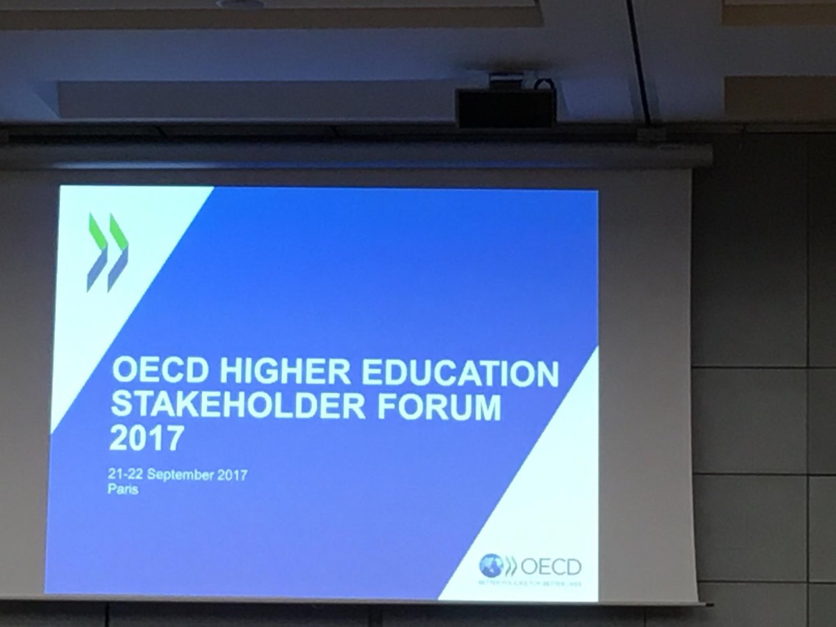 Our CEO, Nobina Robinson is in @Paris for the #OECD Higher Education Forum w/ delegates &amp; experts from around the   #WeArePolytechnics<br>http://pic.twitter.com/CFO4szytcv