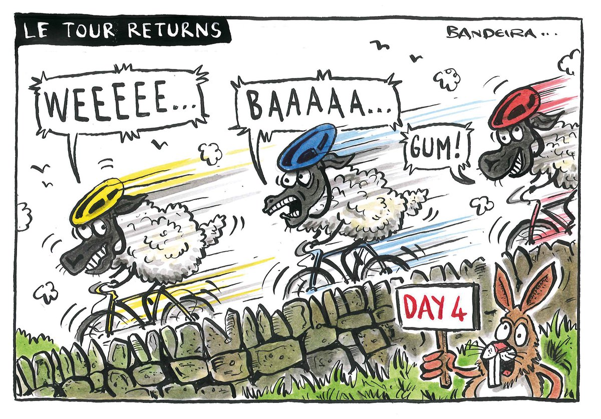 Tomorrow&#39;s letters page cartoon for @yorkshirepost Tour de Yorkshire returns in 2018 with an extra day to boot! #cycling #cartoon #sheep <br>http://pic.twitter.com/SJ7z3HAiD7