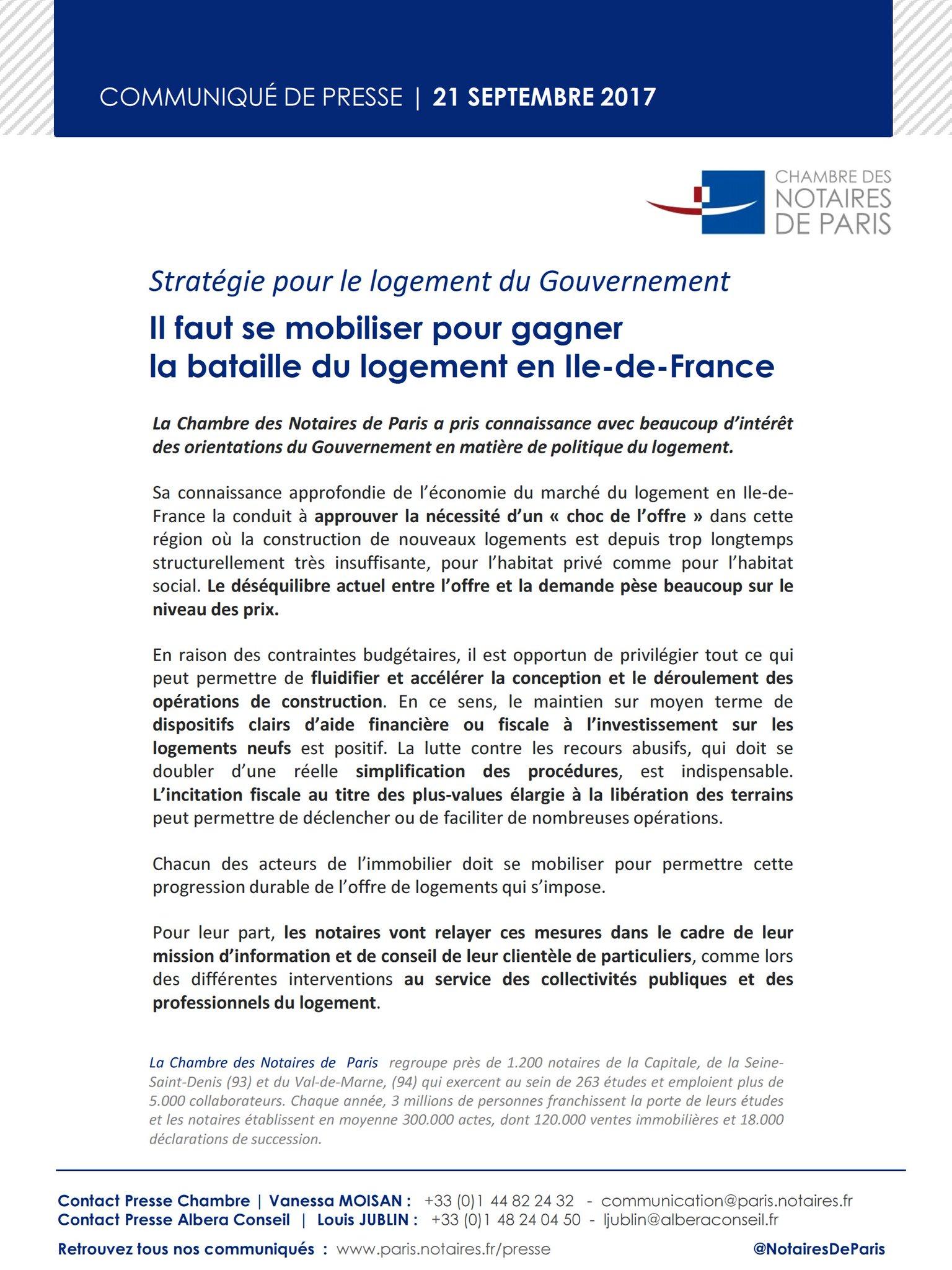 Notaires De Paris On Twitter Presse Notairesdeparis Strategielogement Se Mobiliser Pour Gagner La Bataille Du Logement En Idf Notaires