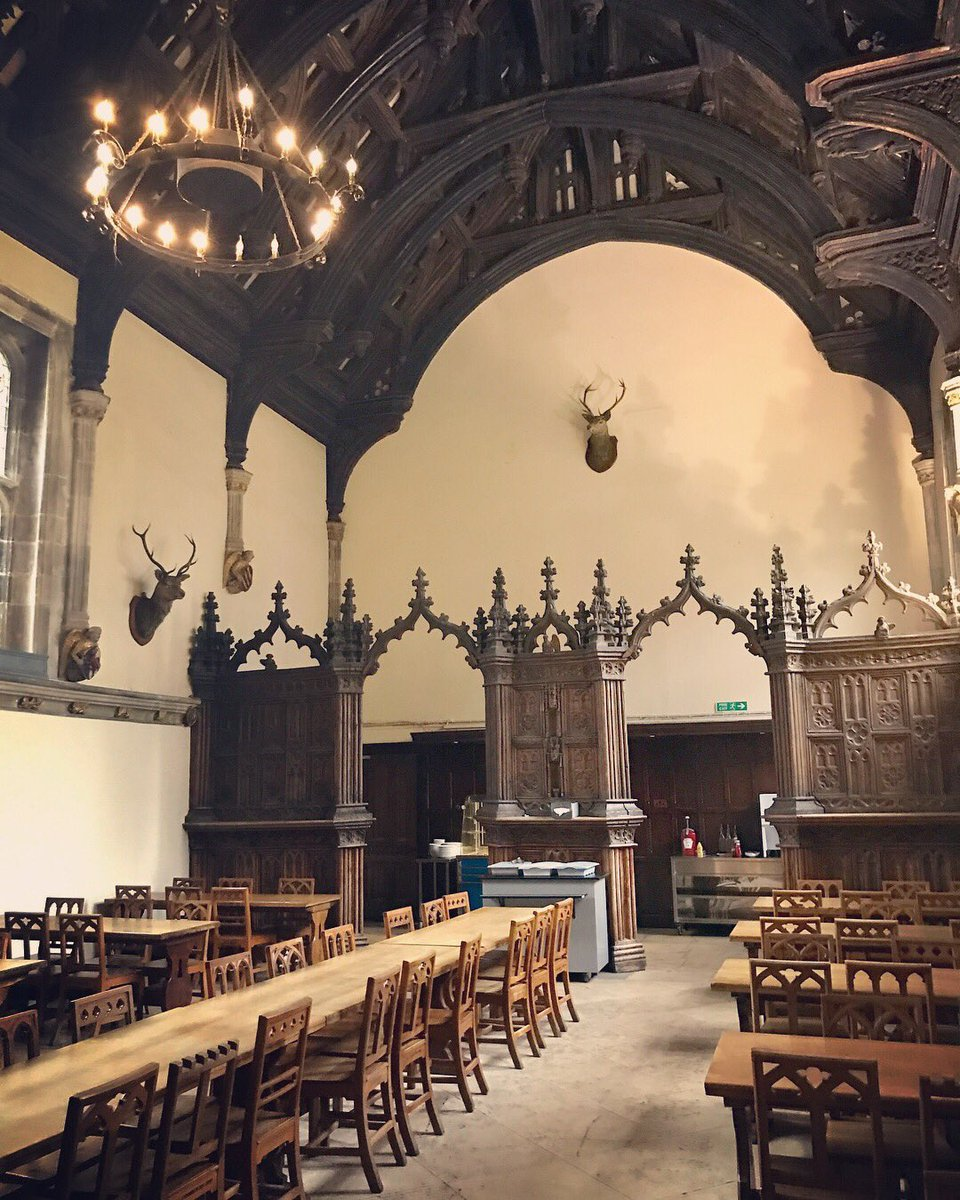 Imagine eating in this 15th-century dining hall? Today we visited Milton Abbey, exciting times ahead for #summerschool 2018. #studyabroad<br>http://pic.twitter.com/FlqBNVYexp