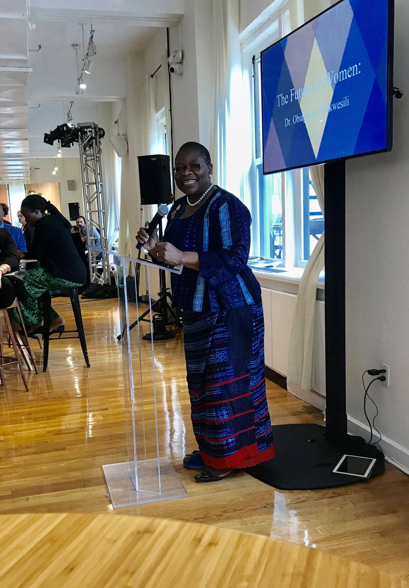 &quot;The future for Africa is female&quot; - Dr Ezekwesili of Nigeria #Thefutureofwomen @gflaorg @MACAIDSFund @facebook @okayafrica #genderequality <br>http://pic.twitter.com/jBfEsIJP31
