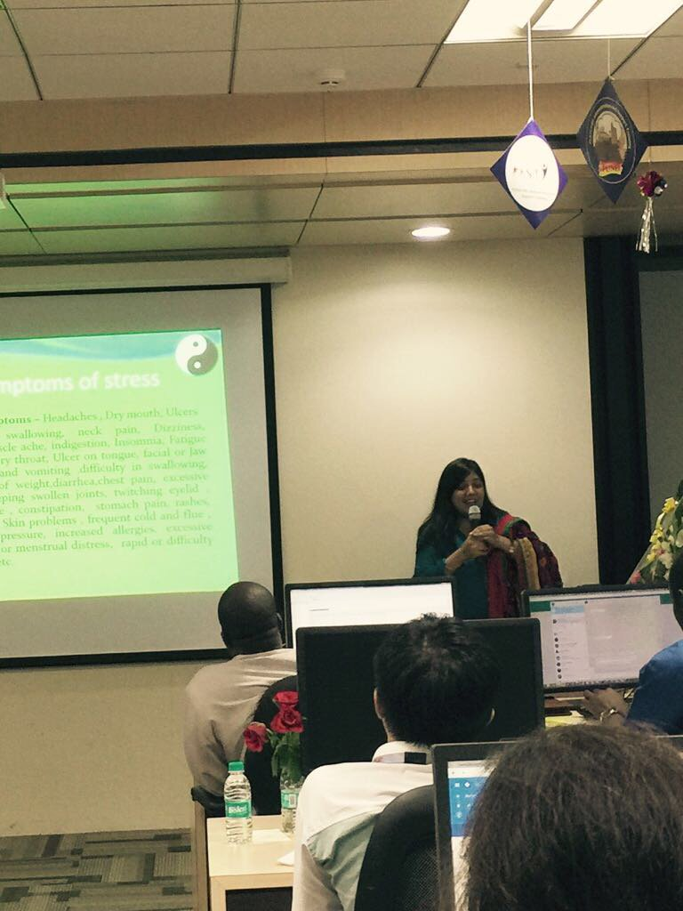 #stress management #acuyoga #workshop #oracle had a great time<br>http://pic.twitter.com/vyou1UgC81