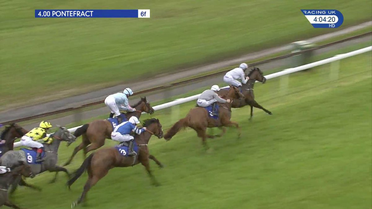 Marie Of Lyon (3-1) wins the feature race (4.00) @ponteraces and completes a double for @RichardFahey. Results ▶️ https://t.co/7iJOPsvjqx