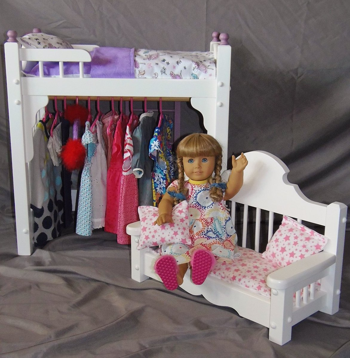 Doll bed with storage and doll sofa in our Etsy shop. #etsy #etsyseller #18inchdoll #dolls #handmade  http:// etsy.com/shop/keatingwo odcraft &nbsp; … <br>http://pic.twitter.com/ZQbGGAI0nA