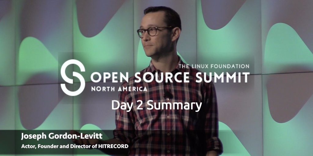 Just published my day 2 video summary of @linuxfoundation Open Source Summit, kicked off by @hitRECordJoe #OSSummit  https:// buff.ly/2wJClbu  &nbsp;   <br>http://pic.twitter.com/a4f70Hg4XV