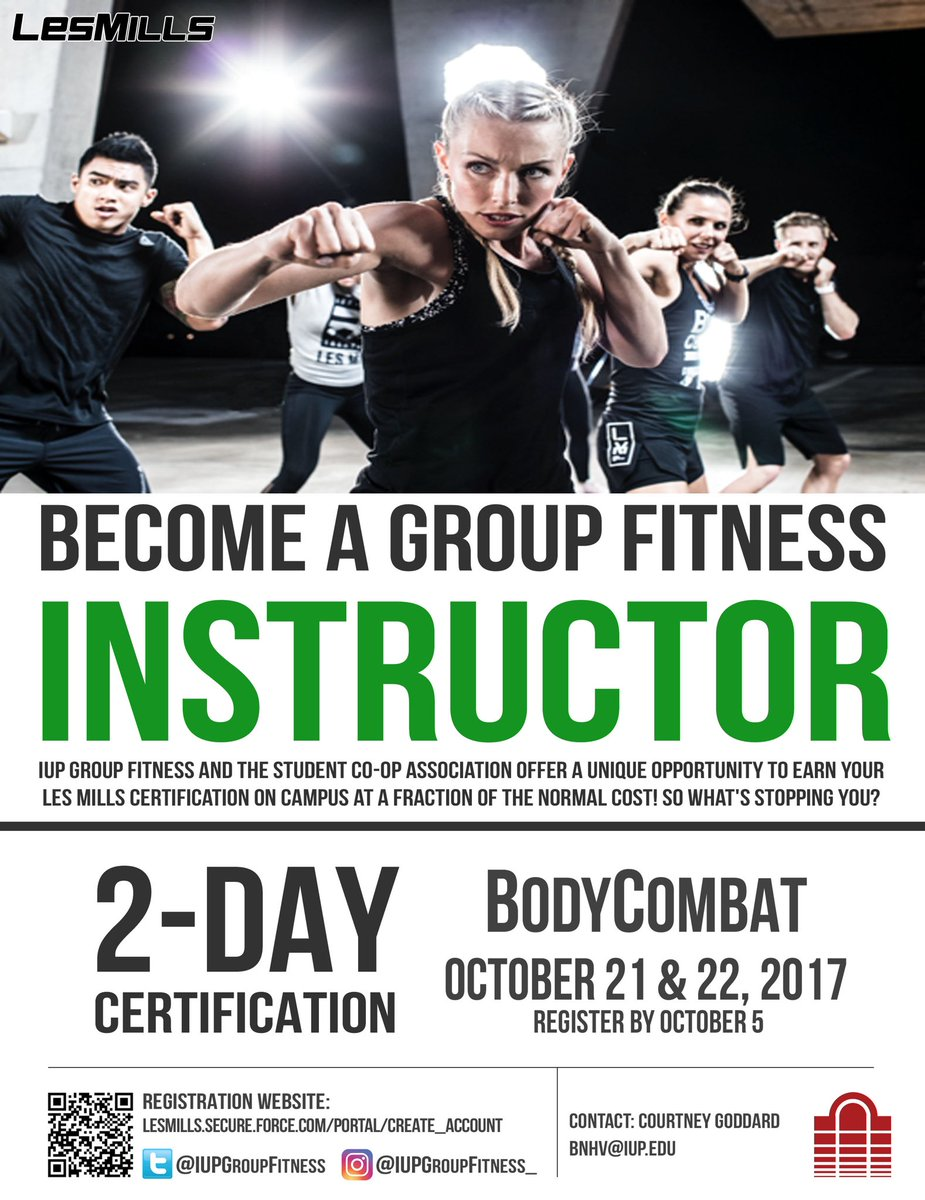 Iup Group Fitness On Twitter 2 Weeks Left Make Sure You Sign Up