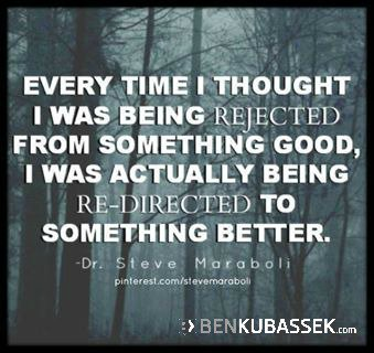 RT  https:// twitter.com/benkubassek/st atus/910884425164103680 &nbsp; …  &quot;Every time I thought I was being rejected...&quot; @benkubassek #quote #inspiration #motiv… <br>http://pic.twitter.com/e8YHnRymvR
