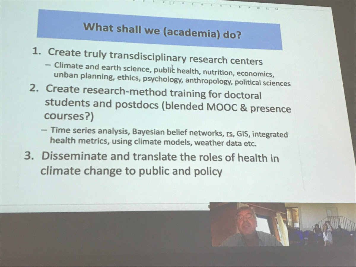 How can #academia be more involved in the fight against #climate change? Thanks to Pr.Sauerborn for his intervention @HeidelbergU @polearth<br>http://pic.twitter.com/QZNXgquMbi
