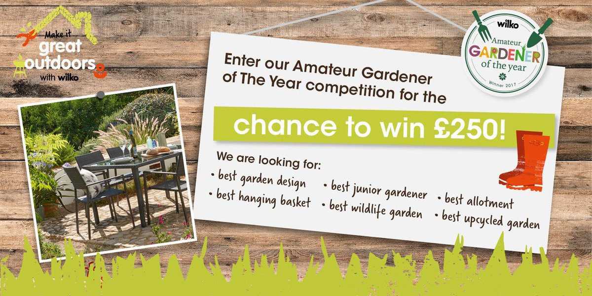 Want the chance to #WIN a £250 @LoveWilko voucher?  Send your best #garden images to wilkogardener@wearebrazenpr.com RT! #competition<br>http://pic.twitter.com/eazQ7B9LCa
