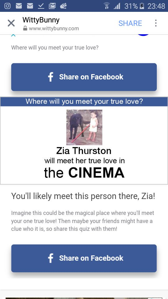 where will you meet your true love quiz