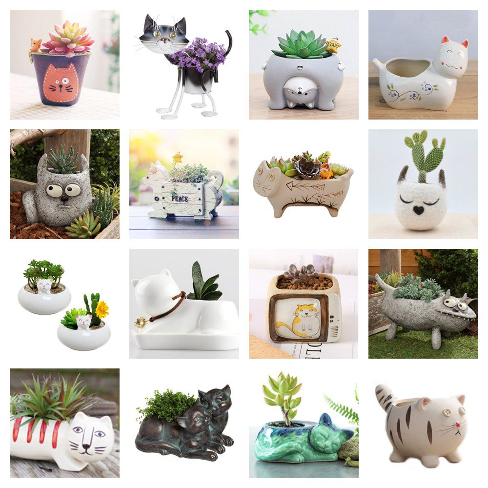 If you&#39;re a #catlover with a green thumb, then you have to check out these cute #kitty #planters!  https:// meow.af/planters  &nbsp;   #cats #plants<br>http://pic.twitter.com/54Y2ZL982w