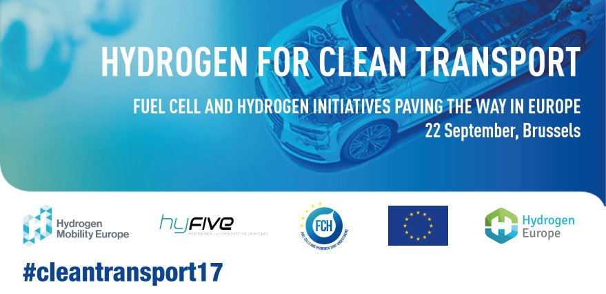 Tomorrow experts will present #hydrogen as a zero emission solution for #transport - our member @Shell will be there  http:// fch.europa.eu/sites/default/ files/Hydrogen_for_Clean%20Transport-Agenda.pdf &nbsp; … <br>http://pic.twitter.com/8xR650gY6A