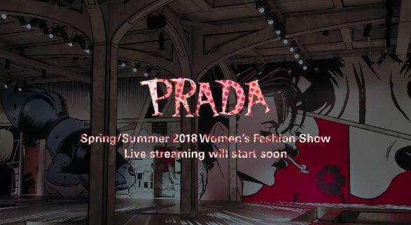 Agora é hora de @Prada ao vivo! Vem assistir ao desfile, que começa a qualquer minuto: https://t.co/MMdXjEKCSJ