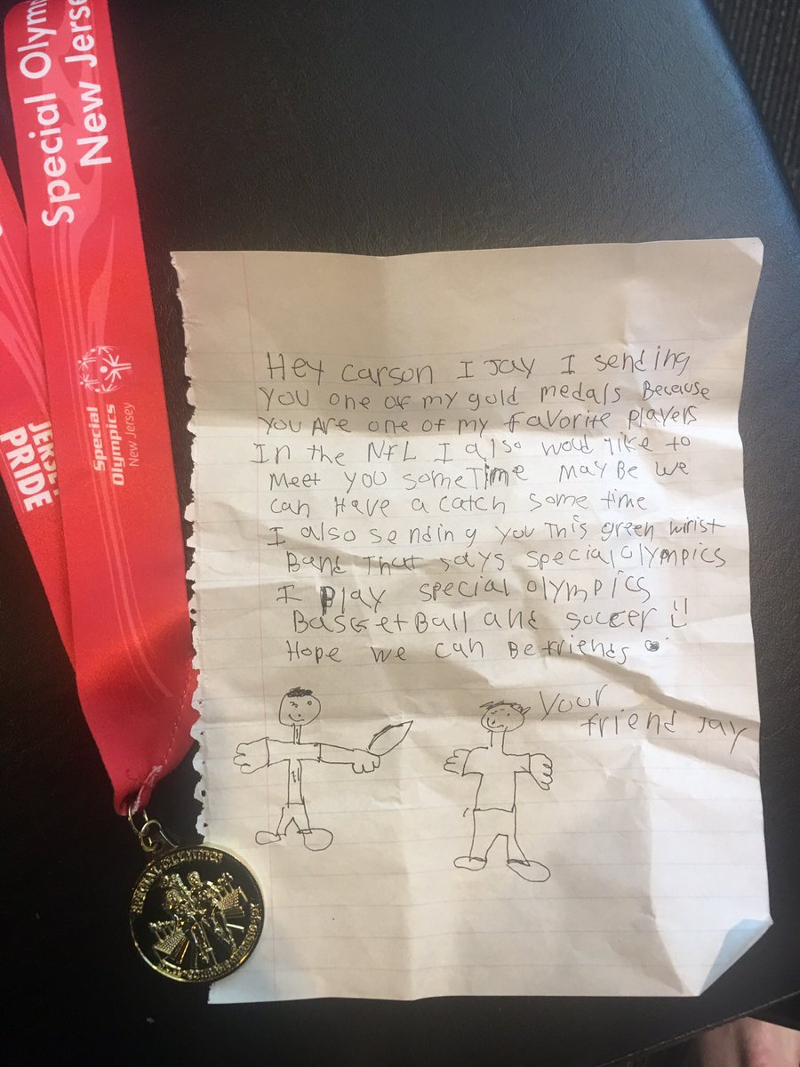 Carson Wentz On Twitter You Gotta Love Letters Like This Thanks Jay Appreciate The Support And Extra Motivation