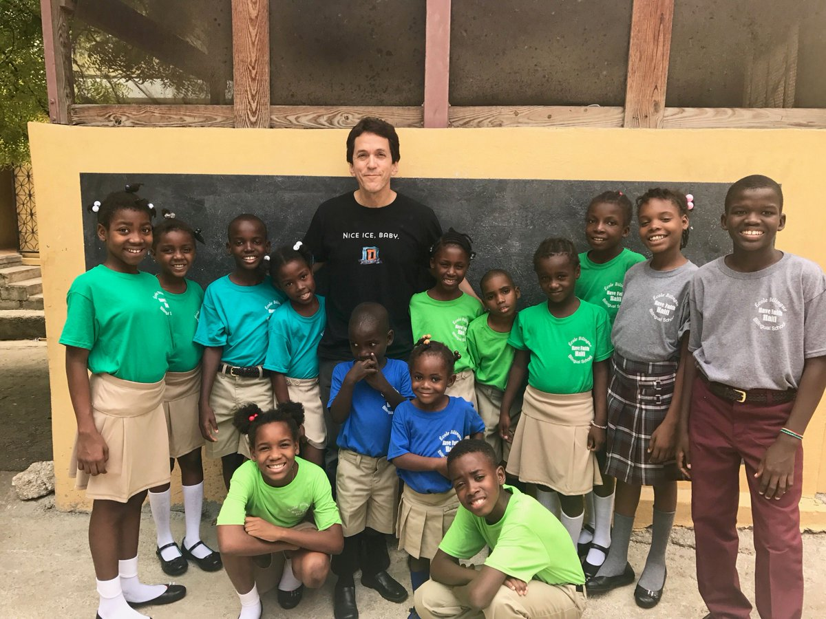 They are very excited for their new uniforms. Thanks to all who donated to the #havefaithhaiti #backtoschool wishlist to purchase them. <br>http://pic.twitter.com/NUjgvPVlNs
