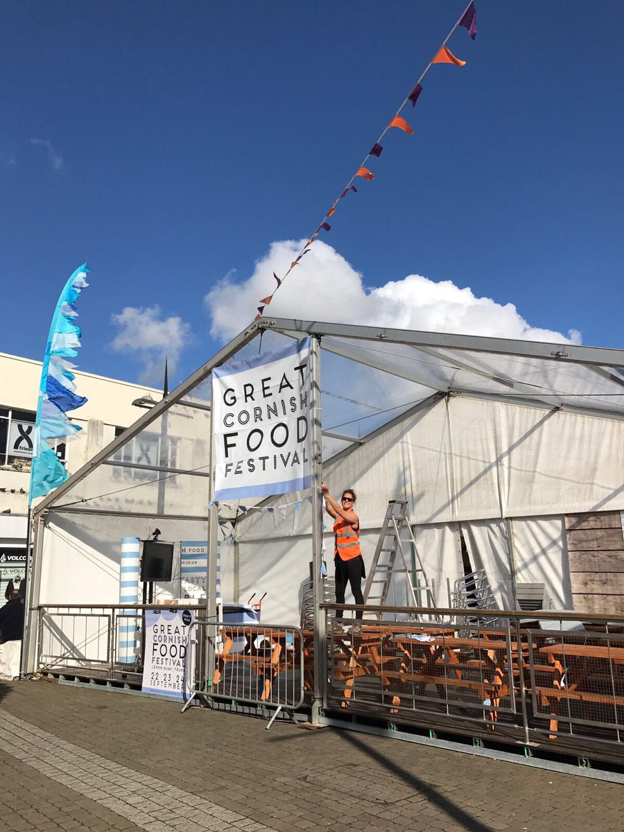 The Deck stage looking pretty in the sunshine... nearly ready for tomorrow #festival #Truro see you there!<br>http://pic.twitter.com/6HiSpzJIkg