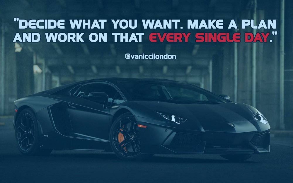 Decide, make a plan and work on that EVERY SINGLE DAY.  Got Instagram? Go here =&gt;  http:// ow.ly/VIFf30fginL  &nbsp;    #quoteoftheday #hustle <br>http://pic.twitter.com/q34GEEChyK
