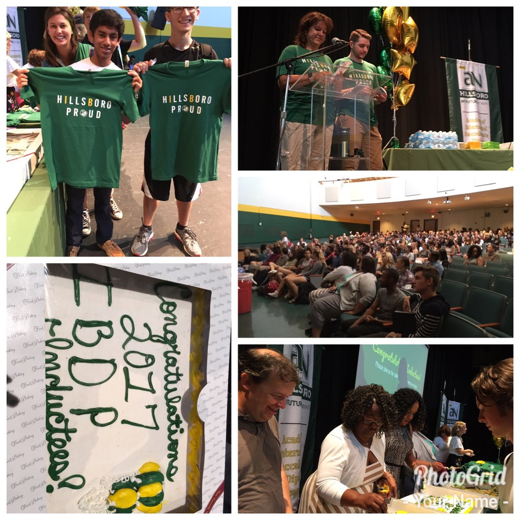 RT @KenyaeReese IBCP/DP Induction Ceremony. Welcome juniors! Thanks parents @HillsboroIBDP @willdbutler @HillsboroBurros