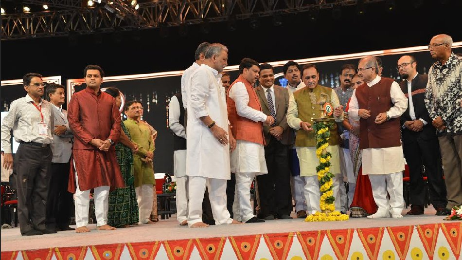 Rupani inaugurates Navratri Mahotsav 2017 at GMDC ground in Ahmedabad
