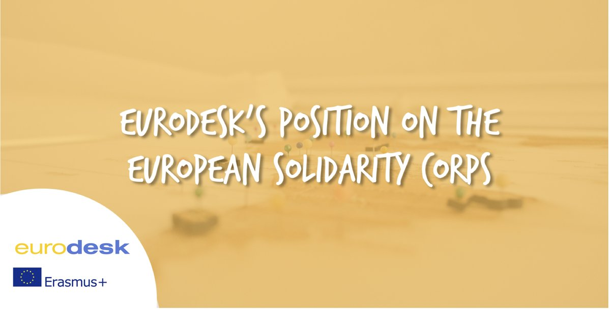 After internal consultation here is @eurodesk position paper on #EUsolidaritycorps: #information #outreach  http:// bit.ly/2xlcEzK  &nbsp;  <br>http://pic.twitter.com/oa4qPuorjP