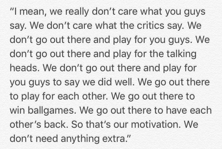 Ezekiel Elliott asked today if Dak Prescott has been more motivated this week to prove the critics wrong: