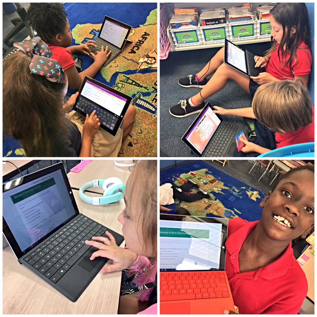 Students in the groove today identifying character traits on #OneNote then completing their #Forms exit slip. Success!! #MIEExpert<br>http://pic.twitter.com/8CQOZwcISM