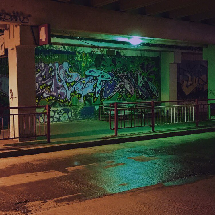Traveling home in the evening...(photo was taken and edited by me)  #zvolen #graffiti #urban #streetart #busstop<br>http://pic.twitter.com/ytGYm4DDs7