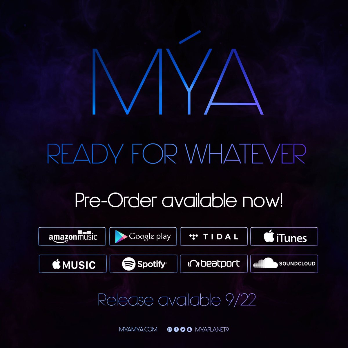 ***TOMORROWFriday 9/22 #ReadyForWhatever official release!!! Preview & pre-orders are available now on all digital platforms!!!